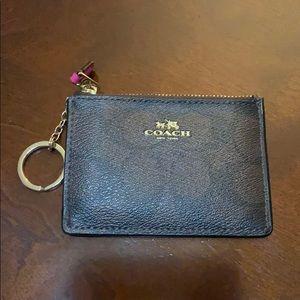 Coach Mini Skinny ID Case in Dark Pink (F16107)